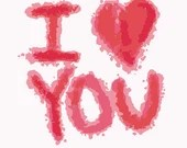 I love you digital embroidery design, I love you digitized embroidery design