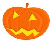 Halloween pumpkin embroidery design, Pumpkin digitized embroidery design