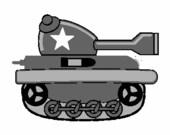 Cartoon tank digital embroidery design, Tank digitized embroidery design