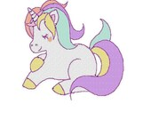 Unicorn embroidery design, Unicorn digitized embroidery design