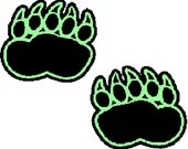 Bear paw prints embroidery design, Bear paw prints digitized embroidery design