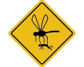 Mosquito hazard embroidery design, Mosquito digitized embroidery design