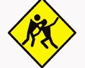 Warning zombie crossing digital embroidery design