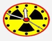 Zombie apocalypse clock digital embroidery design, Zombie apocalypse digitized clock embroidery
