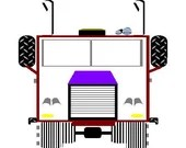 Big rig truck digital embroidery design, Truck digitized embroidery design