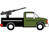 Zombie assault vehicle digital embroidery design, Zombie assault vehicle digitized embroidery design
