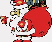 Santa claus digital embroidery design, Santa digitized embroidery design