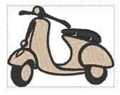 Scooter digital embroidery design, Scooter digitized embroidery design
