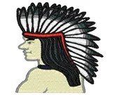 Tribal indian chief embroidery design, Tribal indian chief  embroidery digitized  design