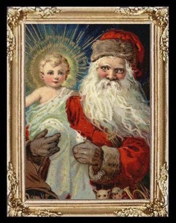 Santa And Baby Jesus Cards | Zazzle