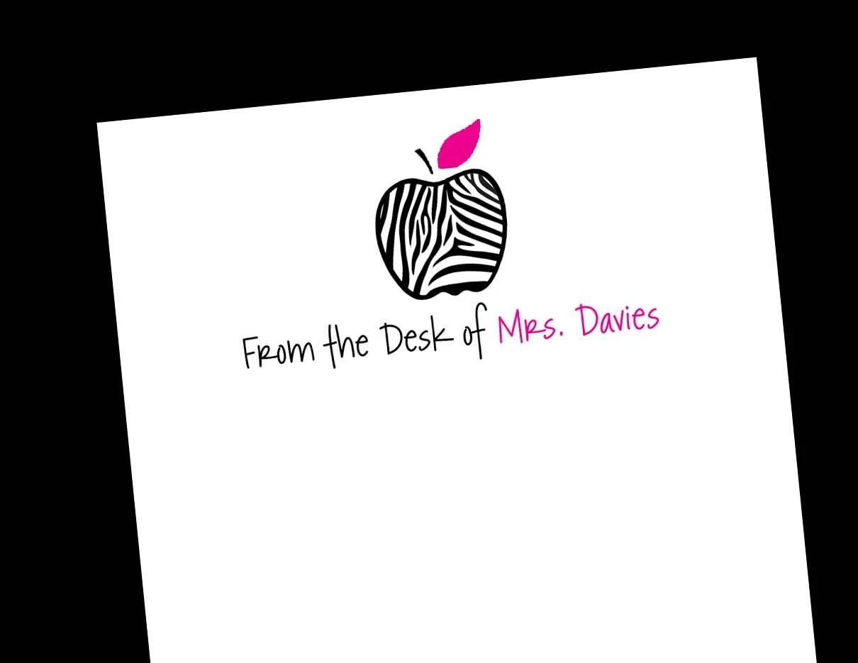 apple notepad zebra print