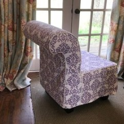 Slipcover For Armless Chair Used Stokke High Cover Etsy Sewing Local Clients Using Fabric Provided By Client Tailored With Covered Cording Detail