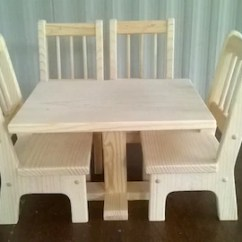 18 Doll Table And Chairs Dining At Marshalls Inch Etsy Handmade Rectangle 4 For