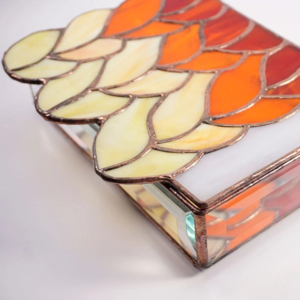 Stained glass box, Knit s...
