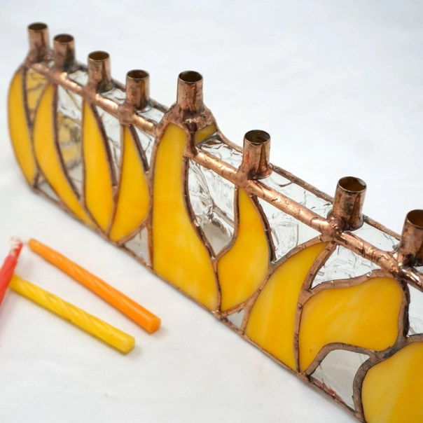 Stained Glass Menorah, Ch...