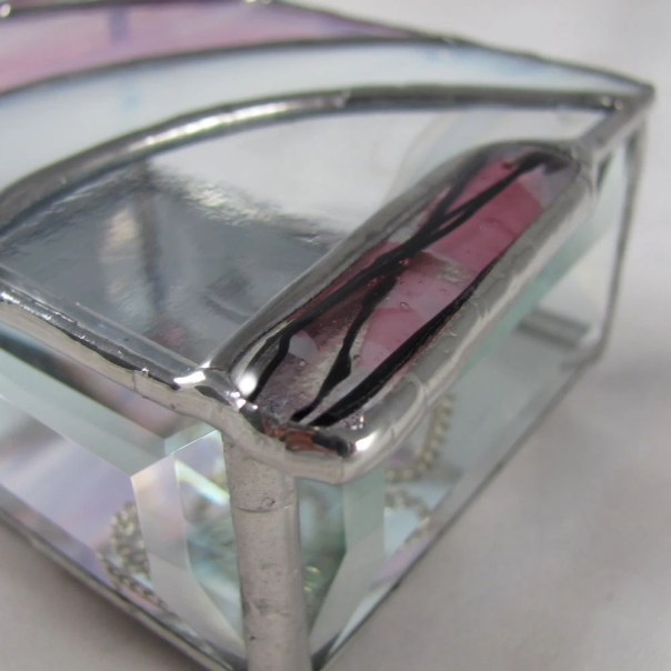 Pretty Pink Stained Glass Jewelry Box