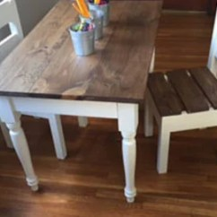 Kids Table With Chairs Baby Swing Chair Argos Ireland Desks Tables Etsy Children S Farmhouse And Sold Separately Furniture