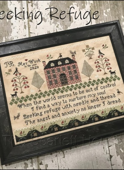 Counted Cross Stitch Pattern Seeking Refuge Sampler Floral image 0
