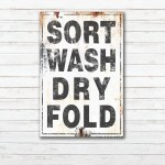 Farmhouse Decor Laundry Room Decor Laundry Room Signs Laundry Sign Rustic Gift For Her Laundry Room Art Wash Dry Fold Repeat Laundry Rules