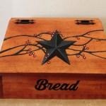 Bread Box Wooden Bread Box Primitive Decor Primitive