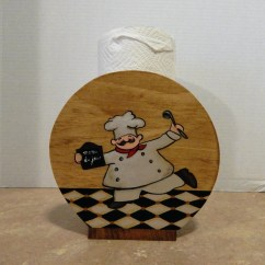 Kitchen Chef Decor Rta Cabinets Reviews Paper Towel Holder Wooden Themed
