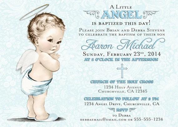 baptism invitation for boy christening