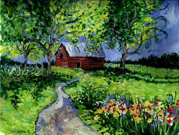 landscape painting original acrylic
