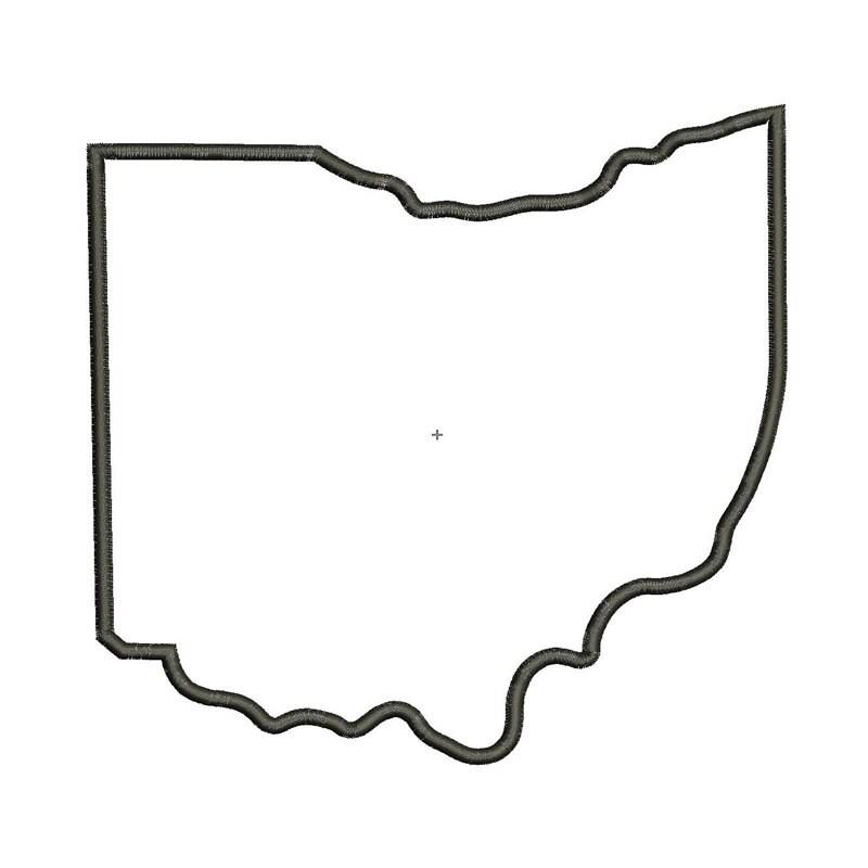 Ohio State Applique Machine Embroidery Applique Design 4