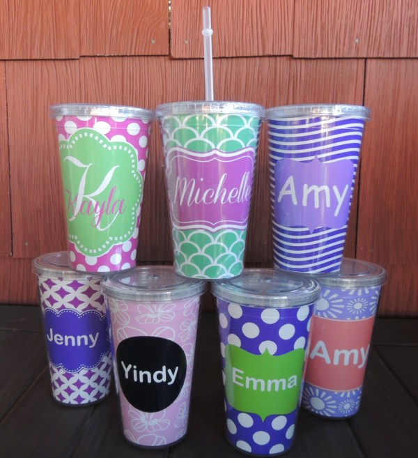 Personalized Monogrammed Acrylic Cup Straw