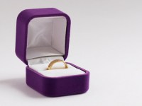 Purple Velvet Ring Box Engagement Ring Box Proposal Ring ...