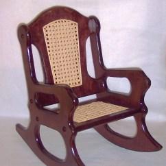 Rocking Chair Cane Cushions Kohls Rocker Etsy Wooden Mahogany And