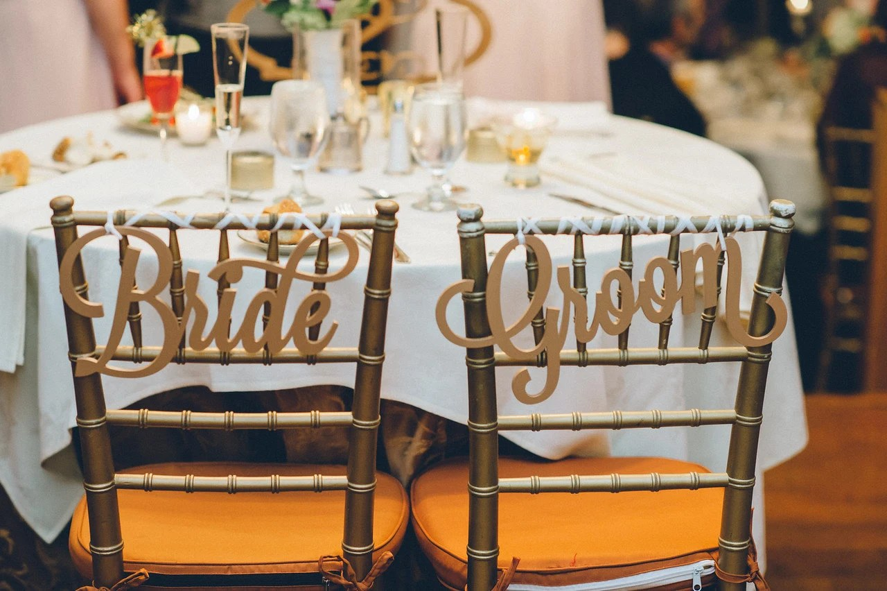 wedding bride and groom chairs lowes plastic chair signs for hanging etsy 50