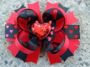 valentine hair bow boutique stacked