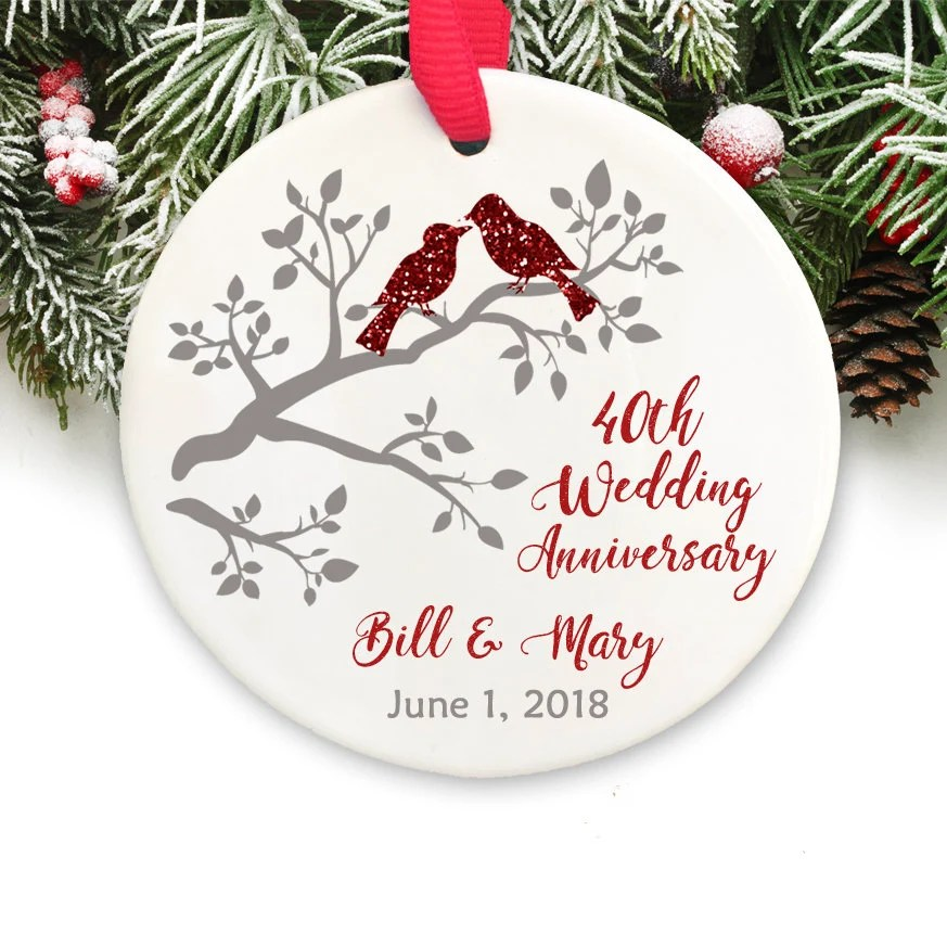 personalized christmas ornament 40th