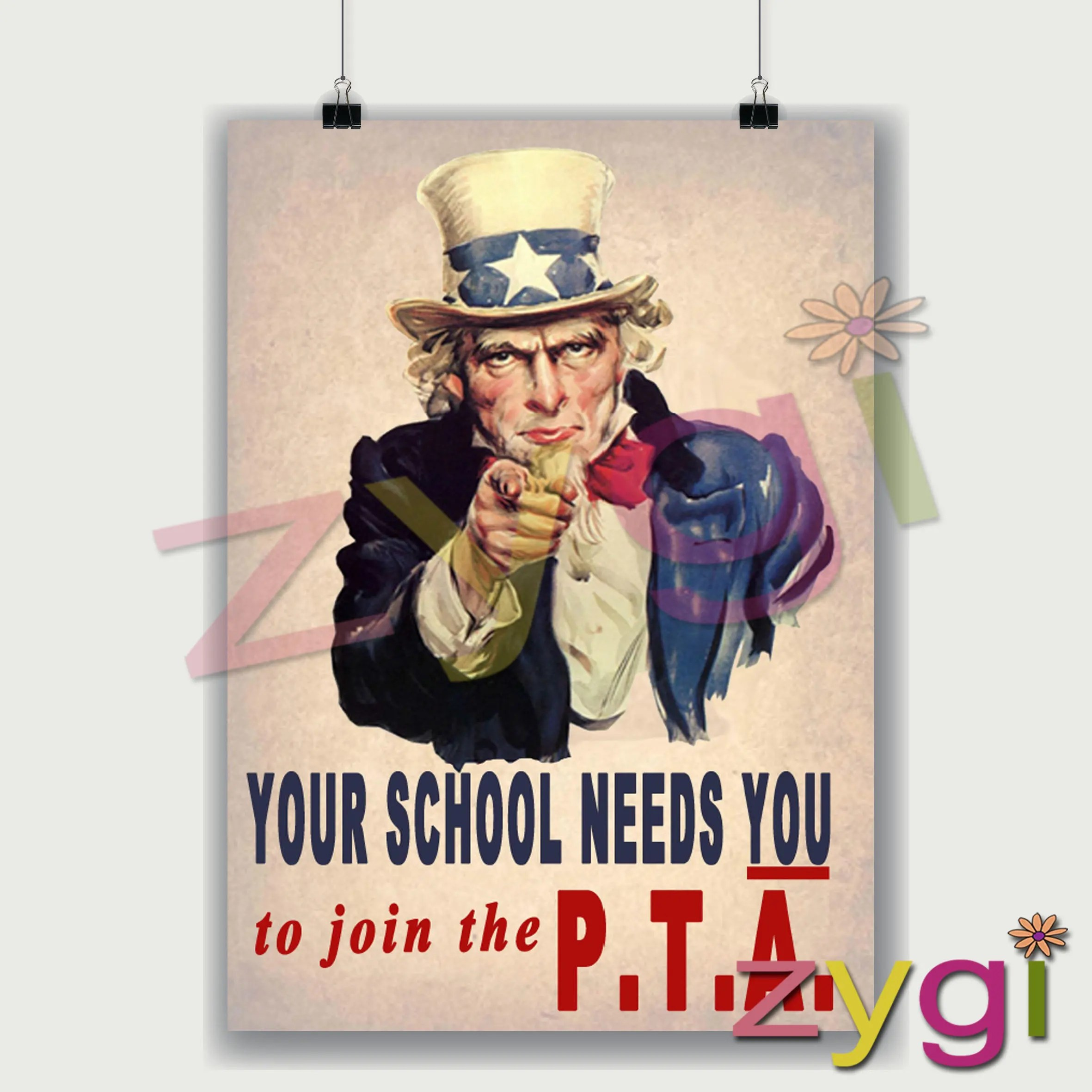 Printable Pta Poster Uncle Sam Your Pta Needs You Vintage