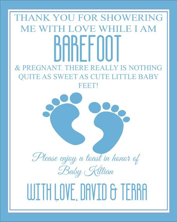 Barefoot Wine Label : barefoot, label, Barefoot, Pregnant, Label