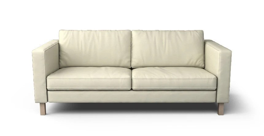 karlstad 3 seat sofa bed cover big lots sofas sectionals etsy ikea seater slipcover only in kino natural fabric
