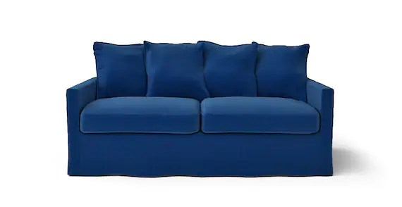 Ikea Harnosand 3 Places Canapé Housse Seulement En Tissu Rouge Indigo