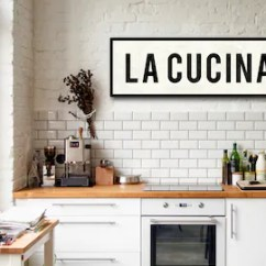 Art For Kitchen Stainless Steel Table Etsy La Cucina Sign Italian Decor Tuscan Wall Home Oversized 2 Sizes