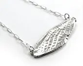 Large Sterling silver cicada wing pendant (P-LCWP)