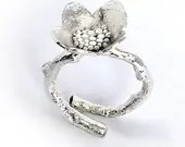 Sterling silver Large Blossom Cocktail Ring (R-LGBCT)