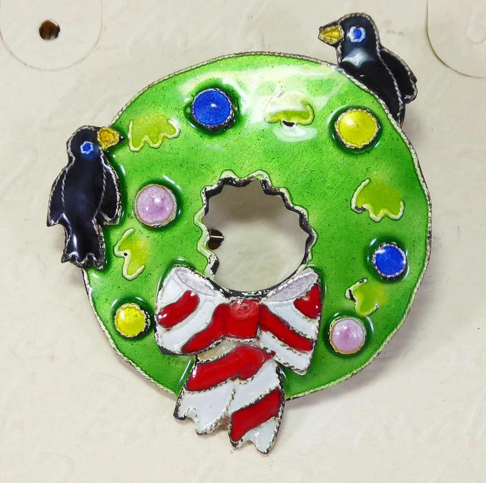 zarah enamel christmas wreath