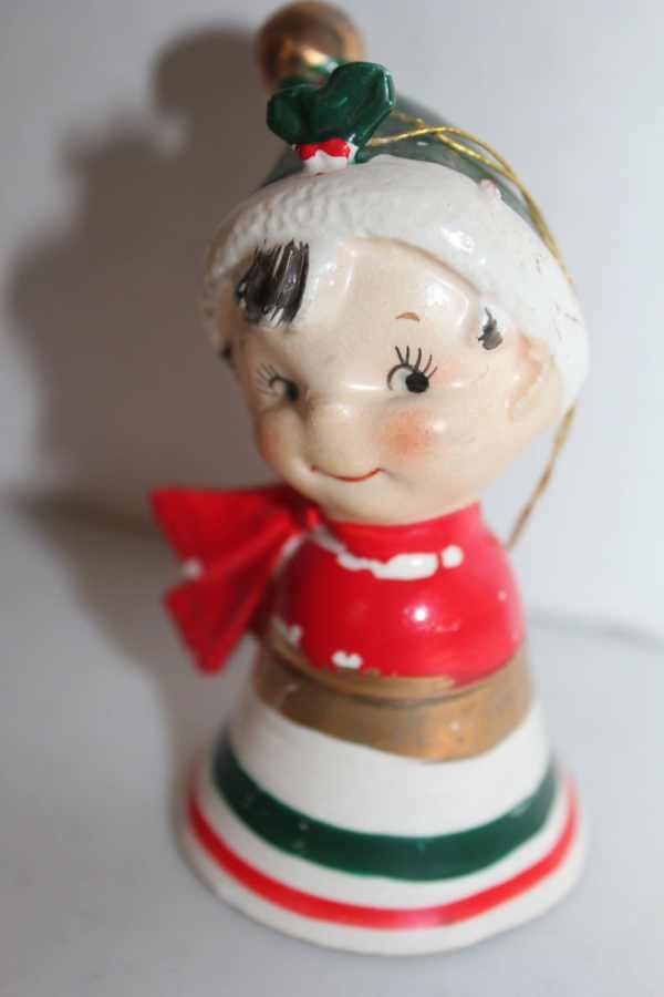Lefton Christmas Bell Vintage Boy