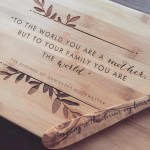 Personalized Cutting Board Custom Butcher Block With Quote For Wedding Gift Engagement Gift Or Mother S Day Gift Or Housewarming Gift