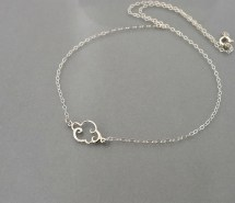 Cloud Necklace Sterling Silver Lining Small Dainty Charm