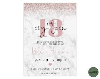 18th invitation etsy