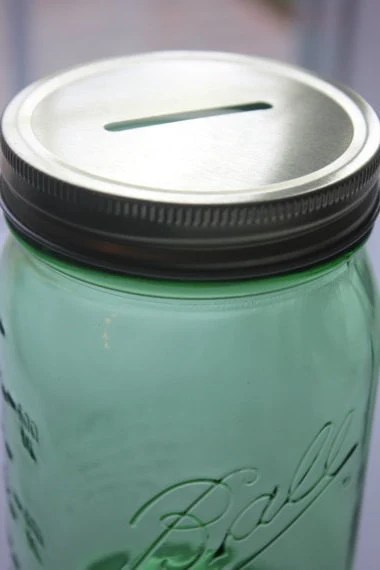 How To Make A Coin Slot In Mason Jar Lid