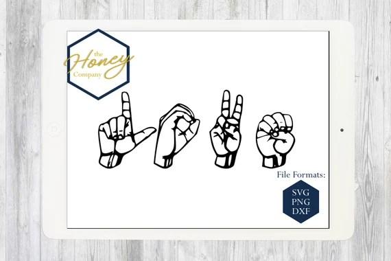 Download Love Sign Language SVG PNG DXF Kindness Kids Instant ...