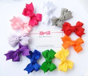 basic hair bows solid color