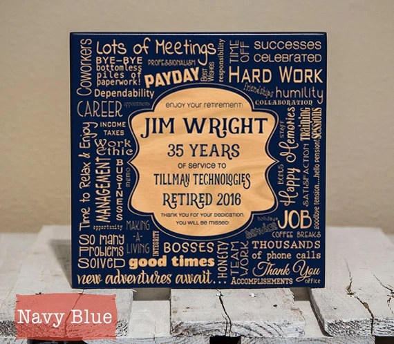 personalized retirement collage custom